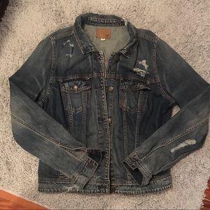 American Eagle distressed denim jacket